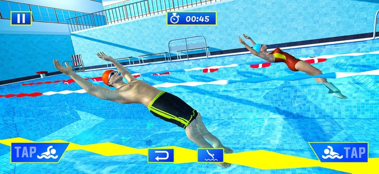 水上游泳池特技比赛苹果版游戏