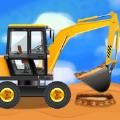 建筑工地和卡车