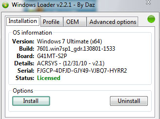 如何使用win7 loader激活工具
