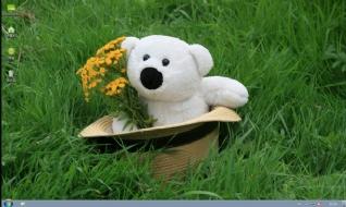 娃娃熊win7桌面主题下载