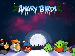 愤怒的小鸟冬季版xp主题