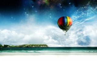 热气球的梦想win7主题