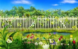 田园篱笆xp主题