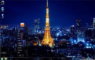 耀眼的夜晚欧美城市风光win7主题