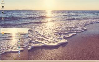 海滩唯美日落主题