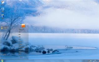 唯美冬日白色雪景win7主题