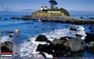 海边清新风景灯塔高清摄影