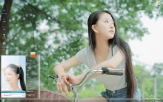 青纯可爱小女生唯美写真win7主题