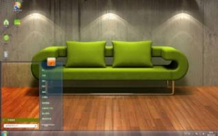 创意沙发win7电脑桌面壁纸