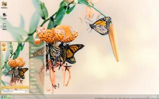 唯美蝴蝶清新主题
