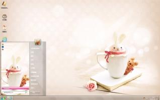 可爱小兔杯子主题