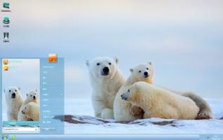 肥胖北极熊可爱主题