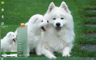 萌宠狗狗萨摩耶主题