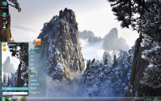 壮丽雪山唯美主题