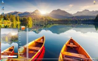 宁静的湖泊自然风景win7主题