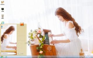 钢琴美女主题下载