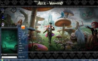 爱丽丝仙境电脑桌面