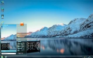 雪山湖景桌面主题