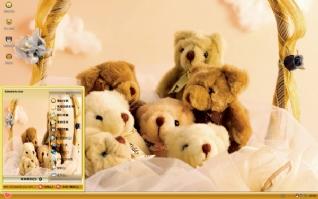 泰迪熊一家xp主题
