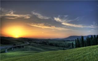 黄昏下的大自然美景壁纸