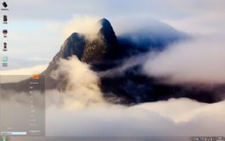 烟雾缭绕的自然风景win7主题