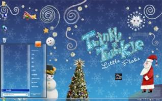 圣诞节win7主题