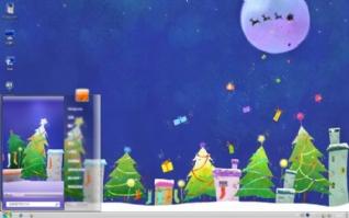 圣诞节礼物桌面壁纸主题