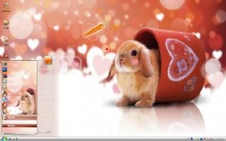 小兔的遐想win7主题