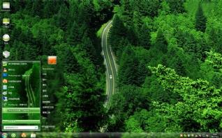 美国最美公路win7桌面主题