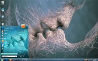 爱吻win7图片主题