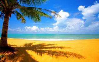 海滩秀丽风光壁纸