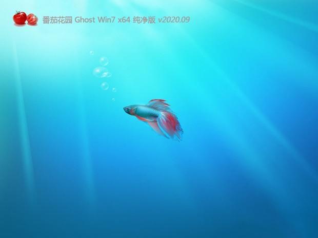 番茄花园Ghost Win7 SP1 64位纯净旗舰版v2020.09